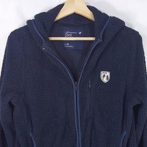 American Eagle Outfitters Jackets & Coats - AEO Full Zip Fleece Hoodie Jacket in Navy